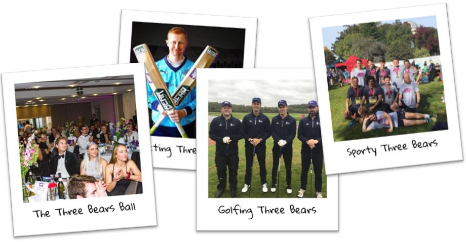Three Bears Events Collage